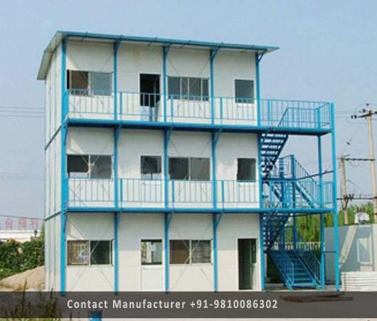 prefabricated g+2 building